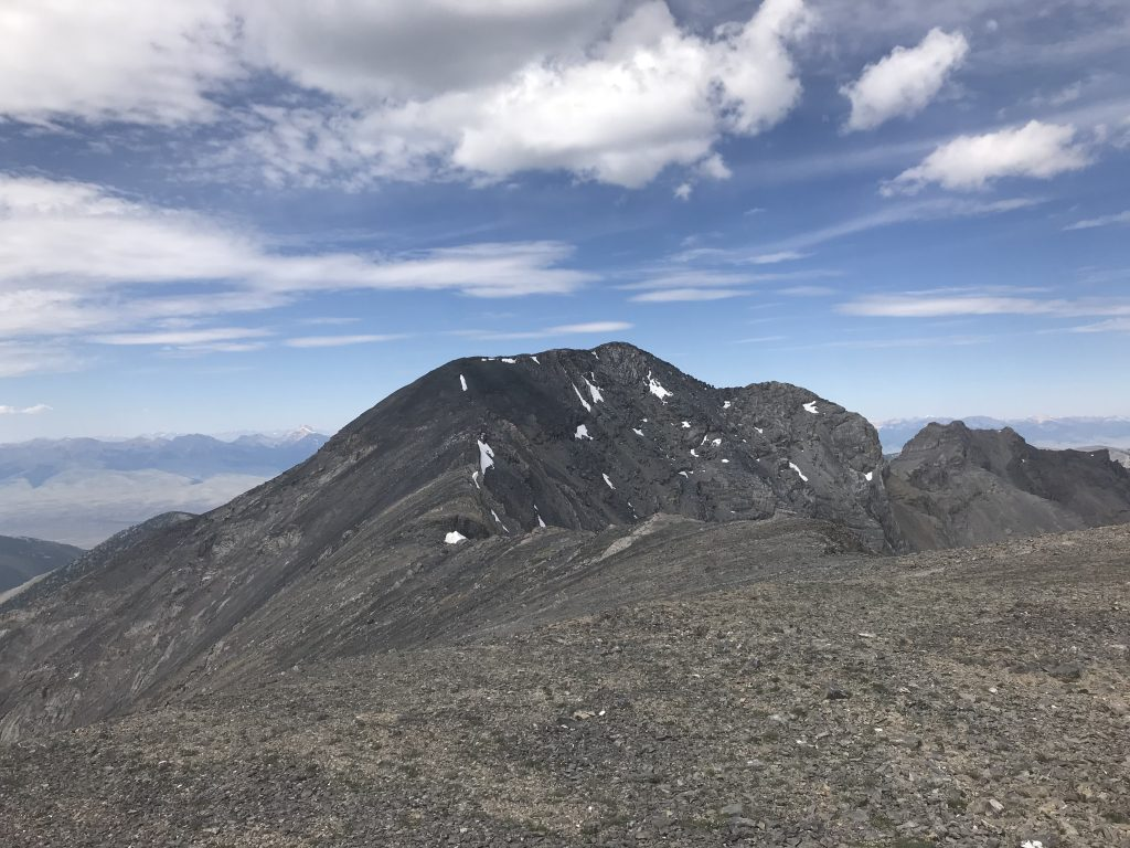 Looking toward Huhs Horn while descending off of Scott Peak.