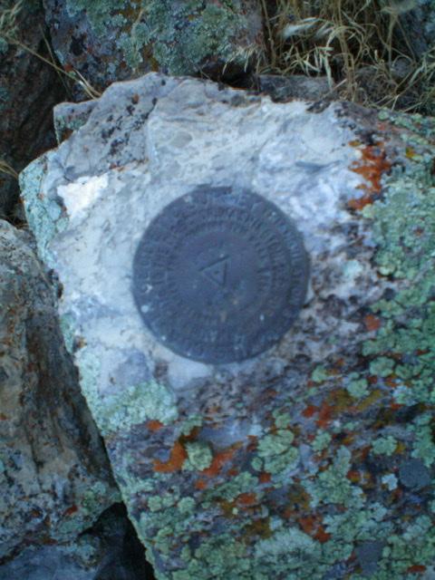 The USGS benchmark atop Lookout Mountain. Livingston Douglas Photo