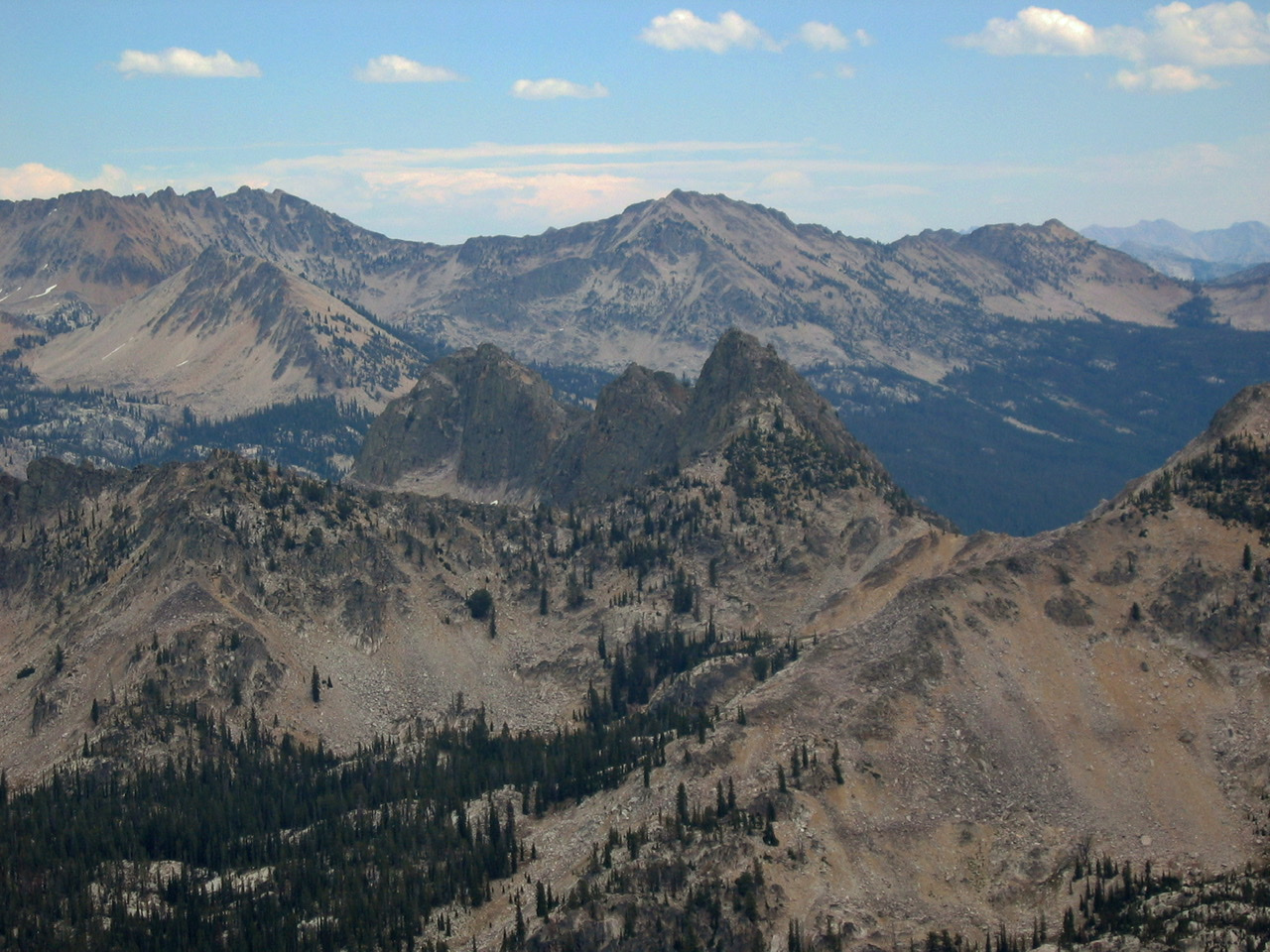 JT Peak viewed from the west. Ray Brooks photo shot in 2006 from just north of the North Raker.