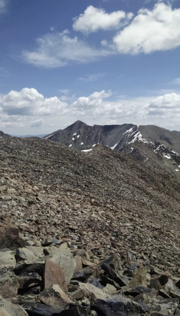 Looking east from the summit to the crest of the Lemhi crest. Jeff Hunteman Photo