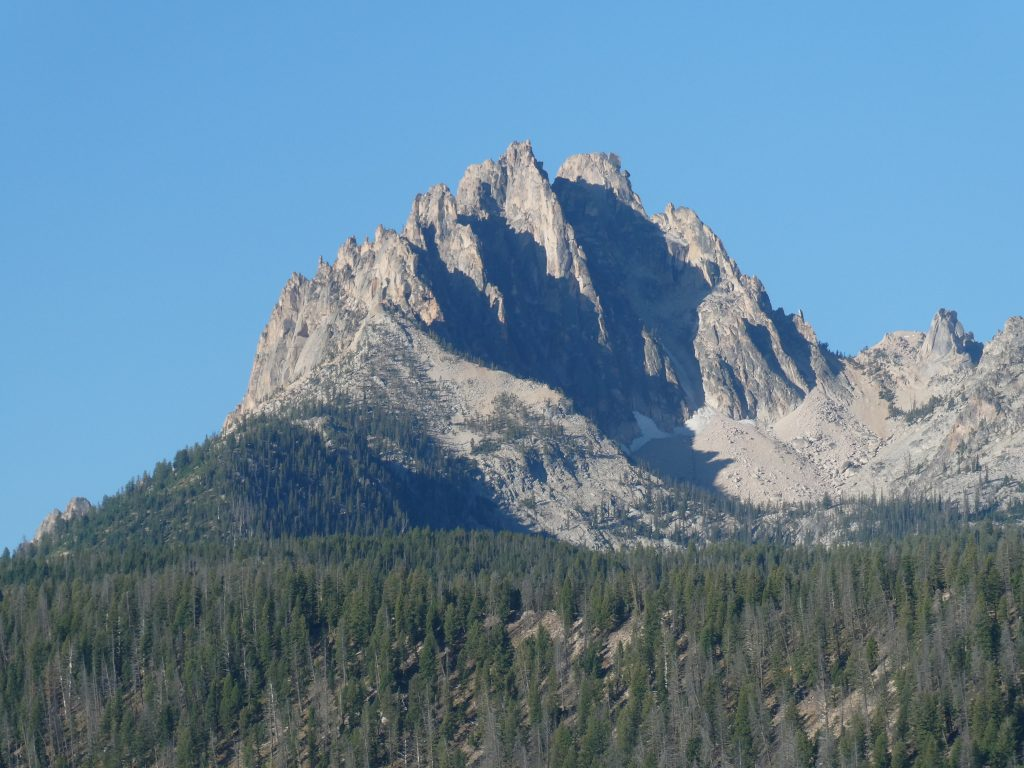 Mount Heyburn viewed from Redfish Lake.