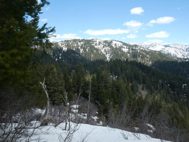 Peak 6860 viewed from Gallagher Peak.