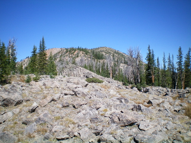 Slide Mountain (summit is right of center) as viewed from its south ridge. Livingston Douglas Photo