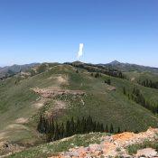 Peak 7855 viewed from Peak 7814.