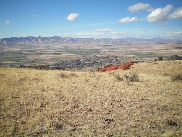 The view of Malad City from the summit of Peak 6230. Livingston Douglas Photo