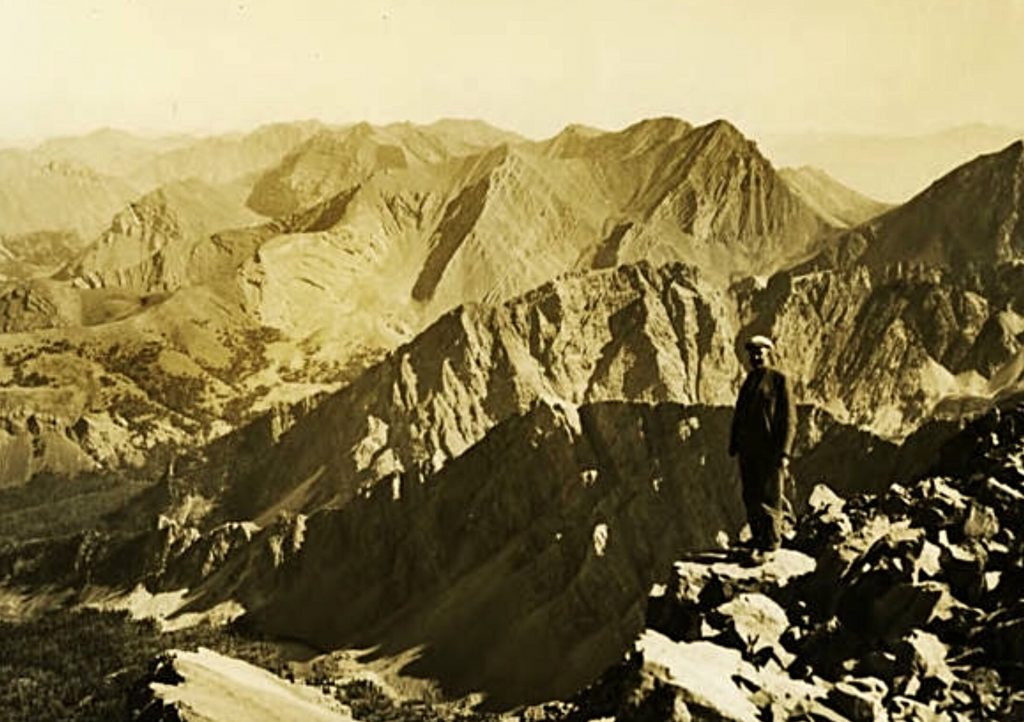 The Lost River Range viewed from the summit of Mount Borah by Lyman Marden, USGS 1934.