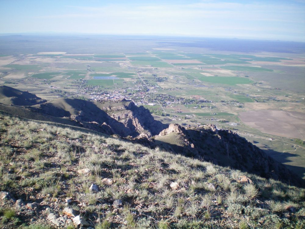 View of Arco, ID from the summit of Arco Peak. Livingston Douglas Photo