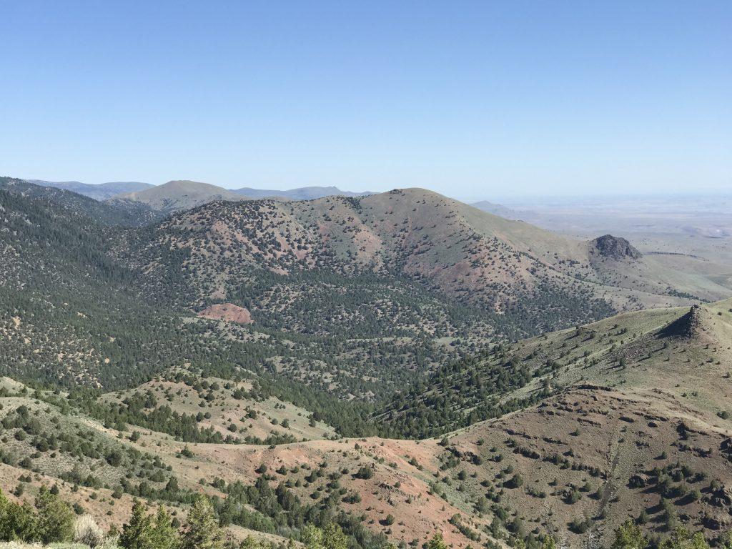 Red Mountain viewed from Peak 6499 (Mercury Peak)