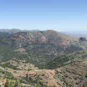 Red Mountain viewed from Peak 6499 (Mercury Peak)