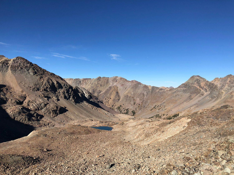 "Showing the terrain in the ""shortcut"" basin north of Silver Peak. Derek Percoski Photo"