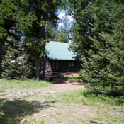 The summer cabin atop Bishop Mountain. Livingston Douglas Photo