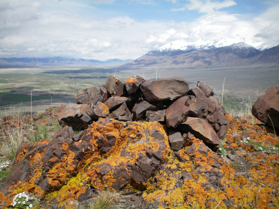 The summit cairn atop Dugout Hill, looking northward. Livingston Douglas Photo