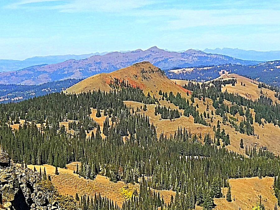 Lookout Peak viewed from Peak 7971 (Gem County HP). Council Mountain in the background.