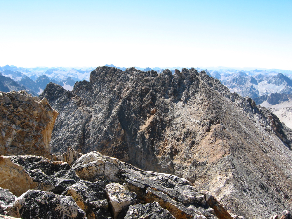 Mickeys Spire from Thompson Peak. John Platt Photo
