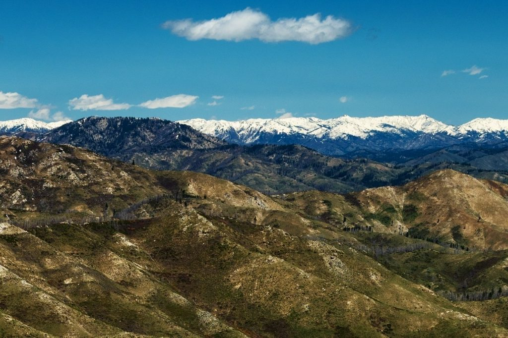 Dog Mountain and the Boise Mountains viewed from Granite Mountain. Anna Gorin Photo