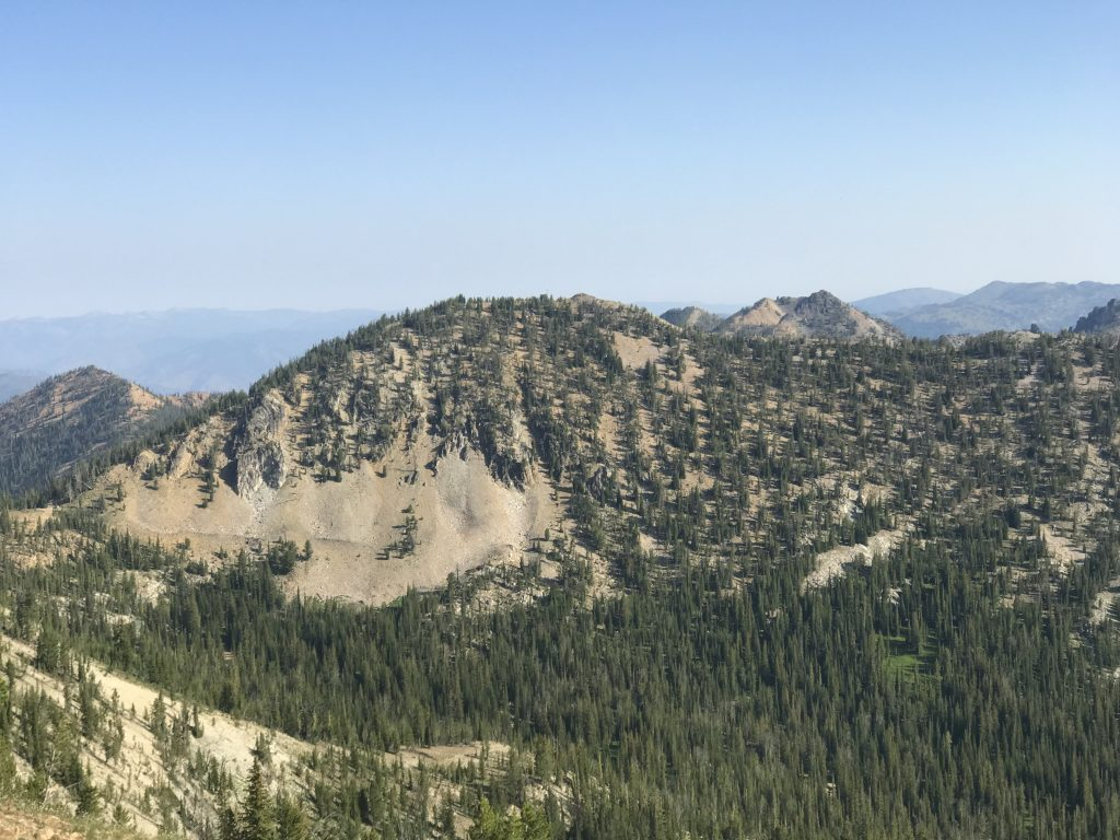 Peak 9101 viewed from Mount Eldridge.
