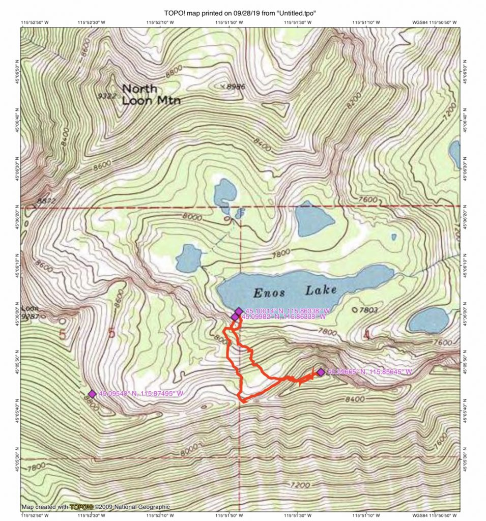 John Platt's GPS track. His route covered 1.5 mikes with 1,119 feet of elevation gain.