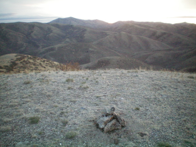Looking east from the summit of Peak 6460 at sunrise. Livingston Douglas Photo