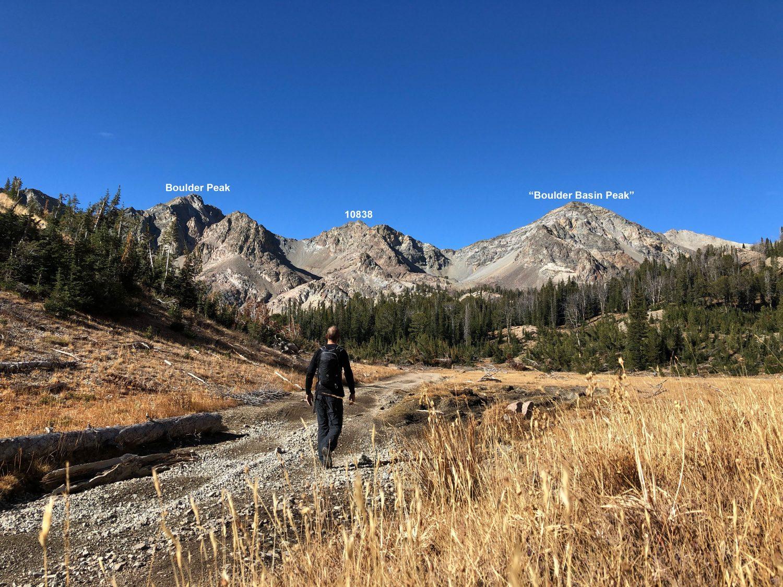 Hiking toward the start of the traverse. Derek Percoski Photo