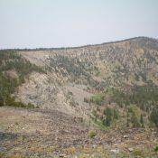 Peak 9766 and its LONG southeast ridge. The summit is right of center. Livingston Douglas Photo