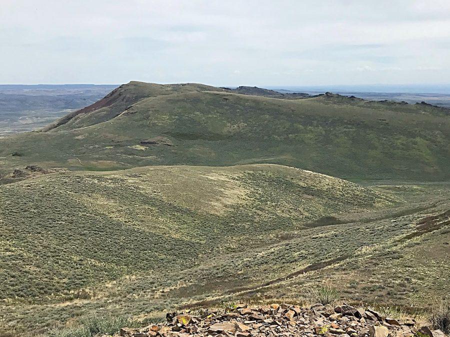 Peak 6491 viewed from East Twin Peak.