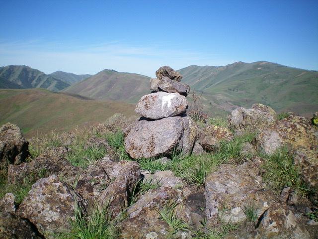 The summit cairn. Livingston Douglas Photo