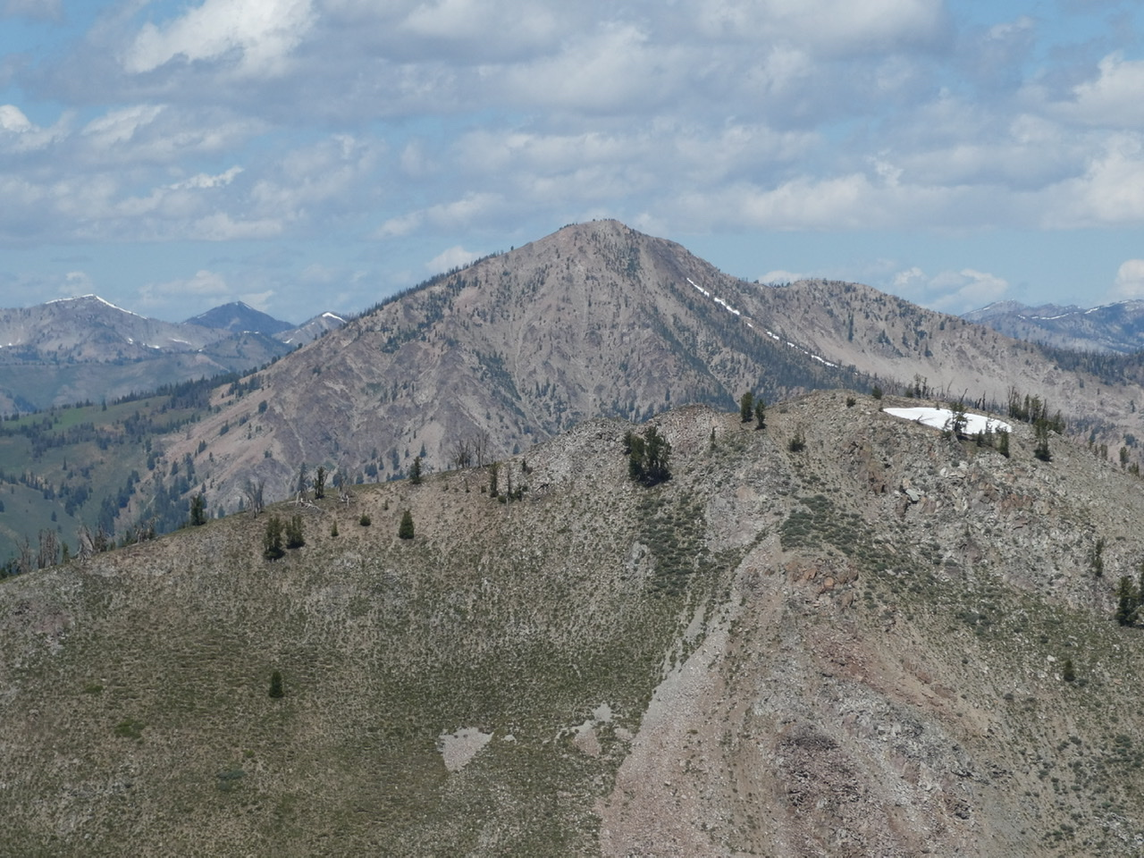 Big Peak viewed from Shaw Mountain.