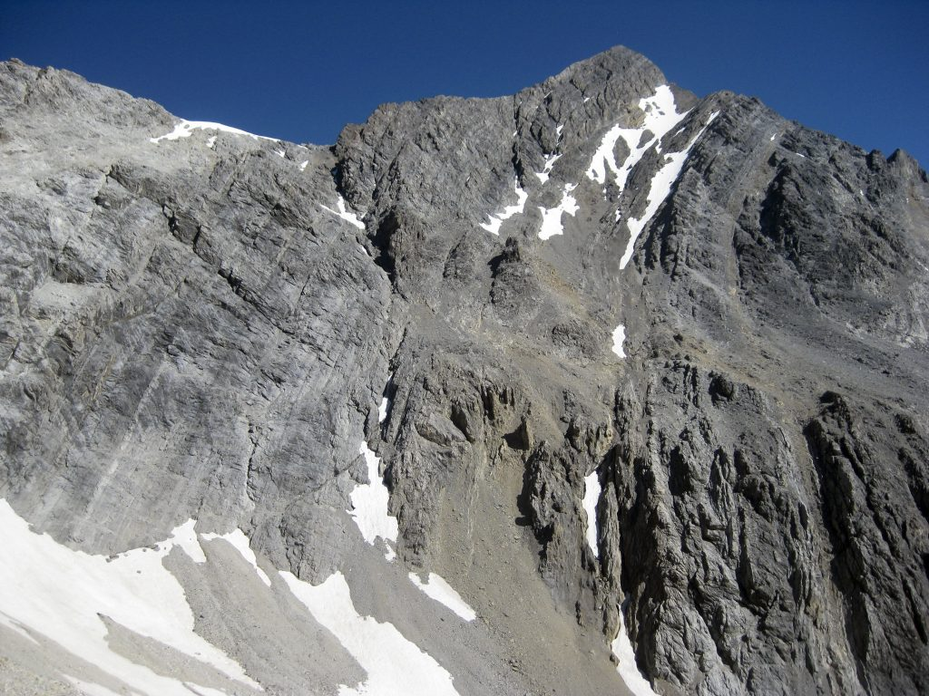 The South Face of Mount Borah from the Sacajawea drainage. Photo by Wes Collins