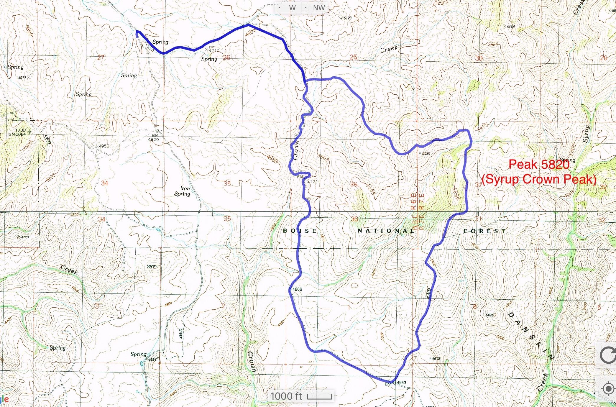Erik's GPS track.