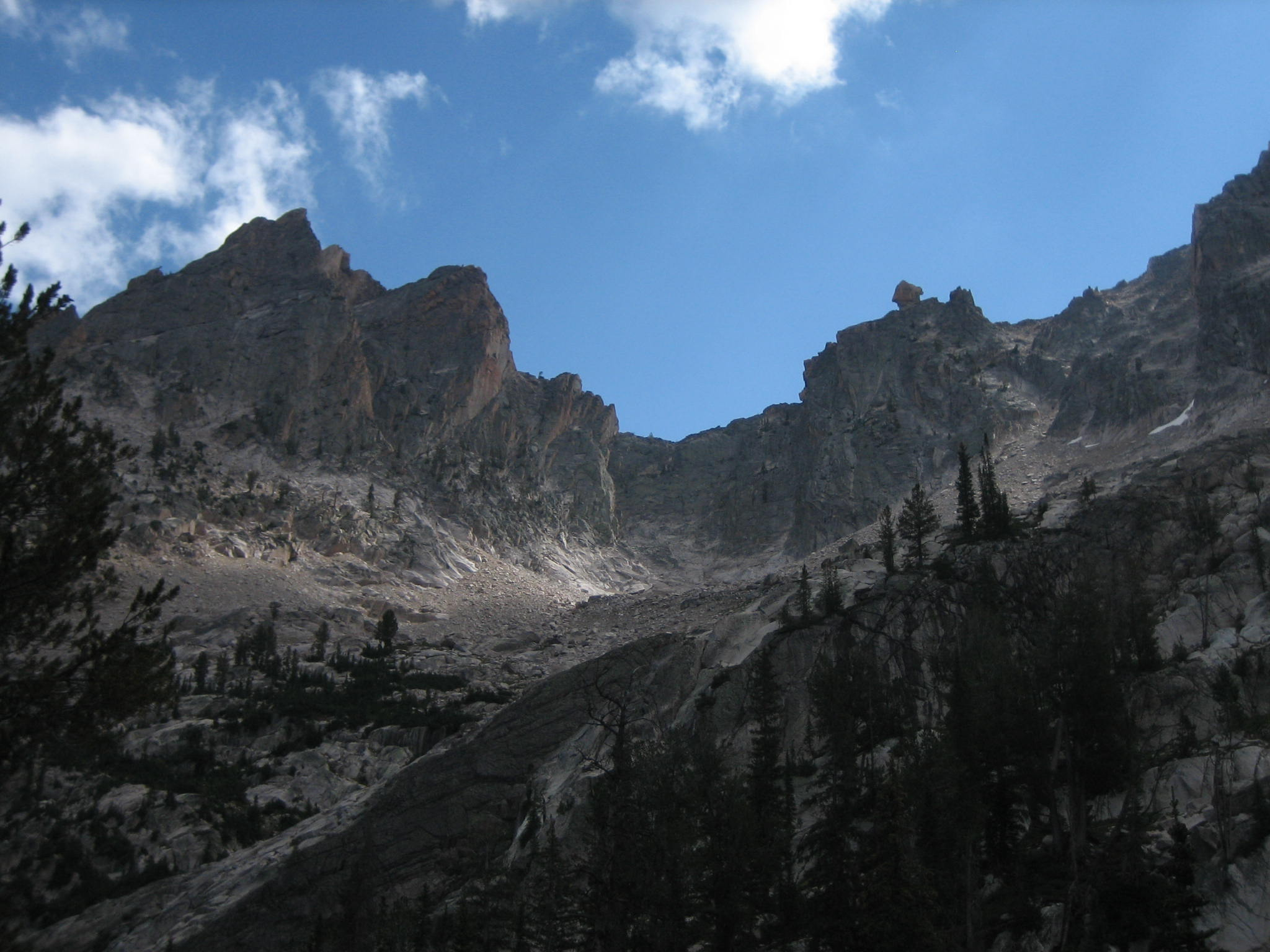 The Arrowhead from the east side, taken from somewhere near Cramer Lakes. Mt. Sevy on the left. John Platt Photo