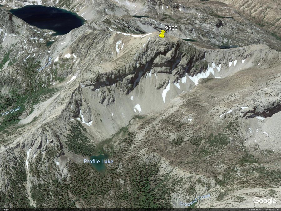 Peak 9565. Google Earth Image