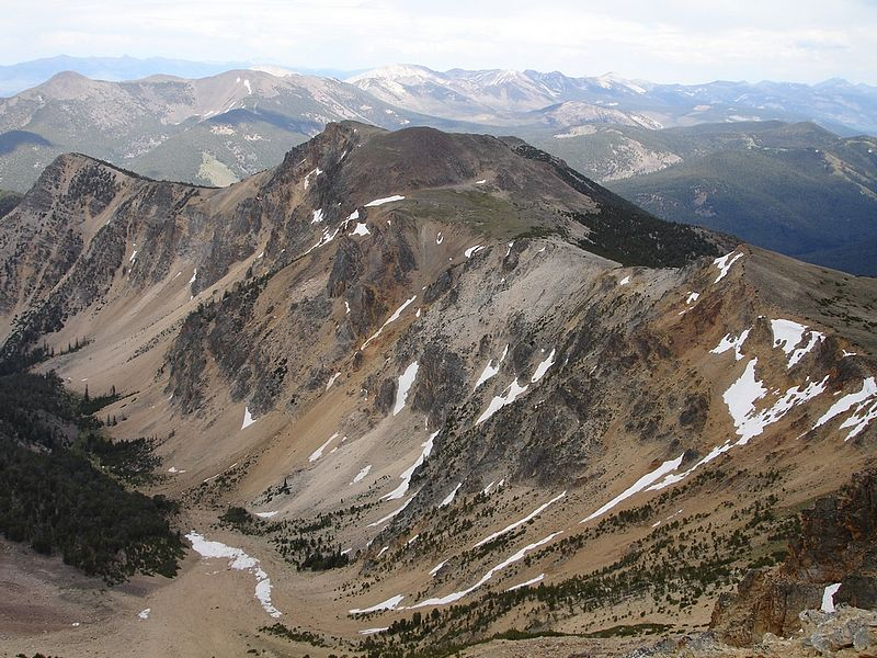The view from Yellow Peak to Junction Peak. Dave Pahlas Photo