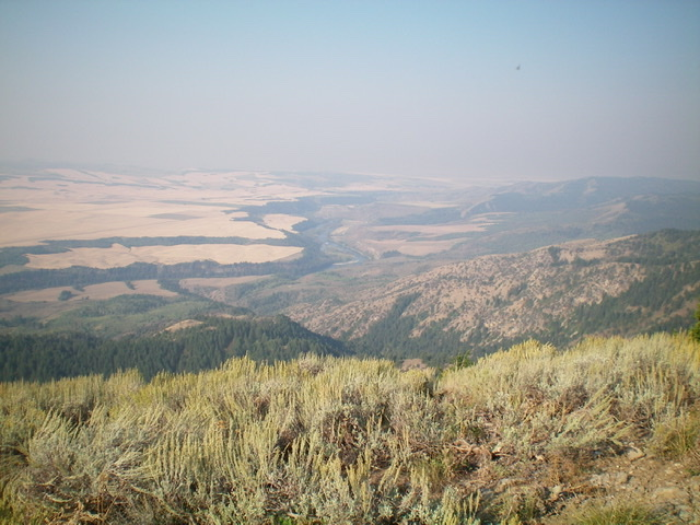 View of the magnificent Snake River from the summit of Twin Peaks West. Livingston Douglas Photo