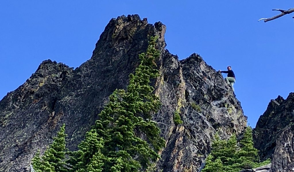 John Platt on the Class 4 summit block. Dave Beck Photo