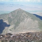 Peak 9366 as viewed from the summit of Peak 10349. Livingston Douglas Photo