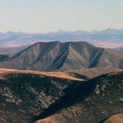 Heart Mountain viewed from the summit of Diamond Peak. Michael Darcy Photo