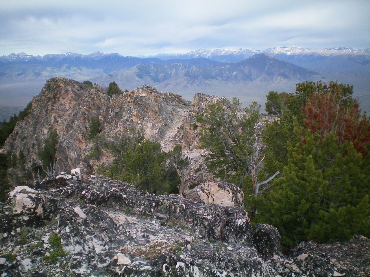 The upper Southwest Ridge of Peak 9634 as viewed from the summit. Livingston Douglas Photo