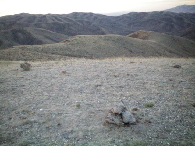 The summit of Peak 6460, looking down the south ridge. Livingston Douglas Photo