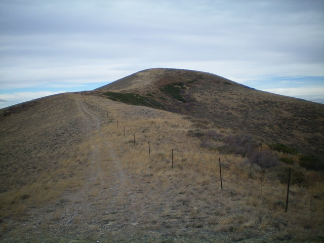 Peak 6842 as viewed from high on the south ridge. Livingston Douglas Photo