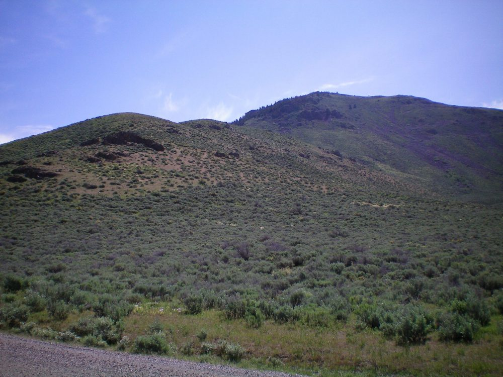 The West Ridge of Pine Mountain as viewed from Fish Creek Road. Livingston Douglas Photo