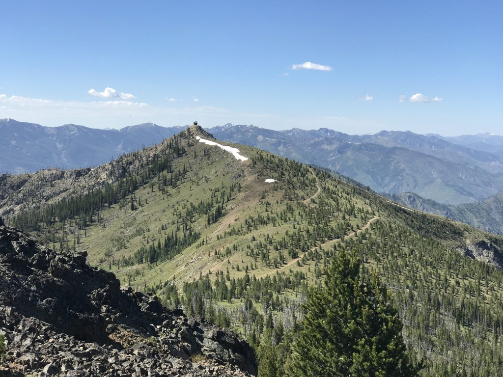 Middle Fork Peak viewed from Peak 9101.