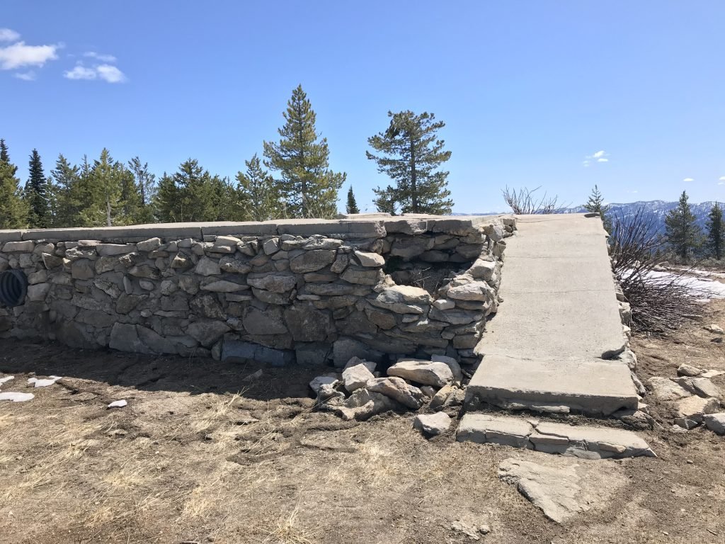 The lookout ruins in 2019.