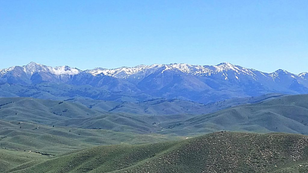 The view of the main Soldier Mountains crest from Peak 6270.