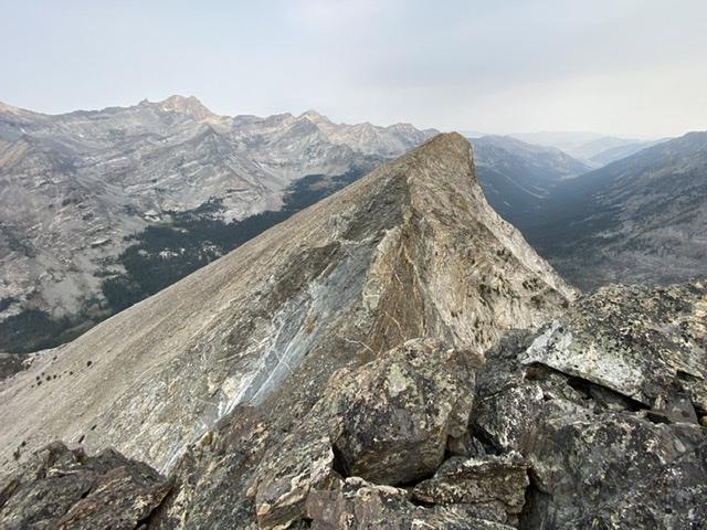 The summit of Mustang viewed from Howard. Derek Percoski Photo