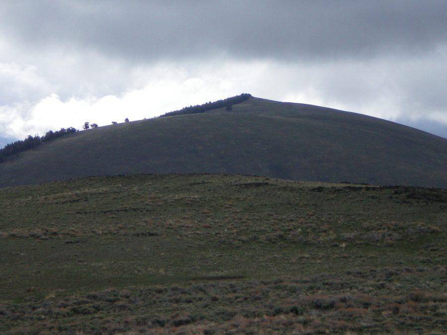 Peak 8288 as viewed from the summit of Peak 8297 South. Livingston Douglas Photo