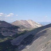 Gunsight Peak viewed from Big Eightmile Peak. Dave Pahlas Photo