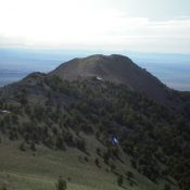 Gallagher Peak as viewed from the summit of Peak 9877. Livingston Douglas Photo