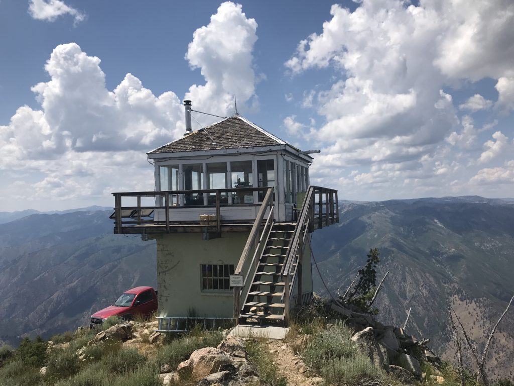 The Pilot Peak lookout is manned every summer due to its outstanding view.