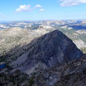 Peak 9004 viewed from the summit of Pinnacles Peak. John Platt Photo