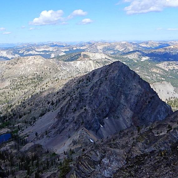 Peak 9004 viewed from the summit of Pinnacles Peak. John Platt Photo